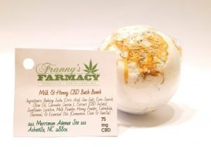 CBD Bath Bomb 75 mg - Milk & Honey - Franny's Farmacy - Longleaf Provisions - the best CBD in Winston-Salem