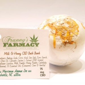 CBD Bath Bomb 75 mg - Milk & Honey - Franny's Farmacy - Longleaf Provisions - the best CBD in Winston-Salem